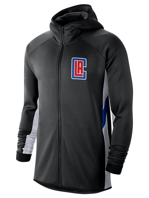 LA Clippers Earned Authentic Showtime Therma Flex Full-Zip Hoodie - Black