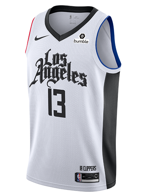 LA Clippers Paul George City Edition Swingman Jersey - White
