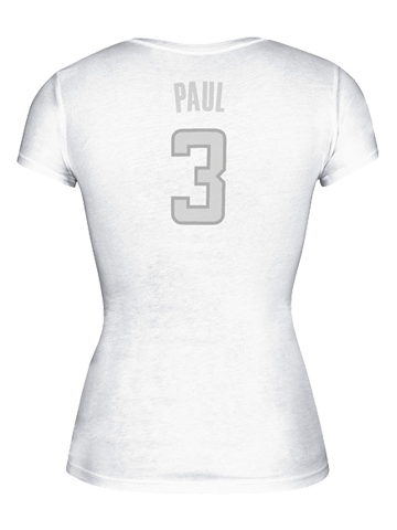 LA Clippers Women's Chris Paul Silver Lining Cap Sleeve T-Shirt