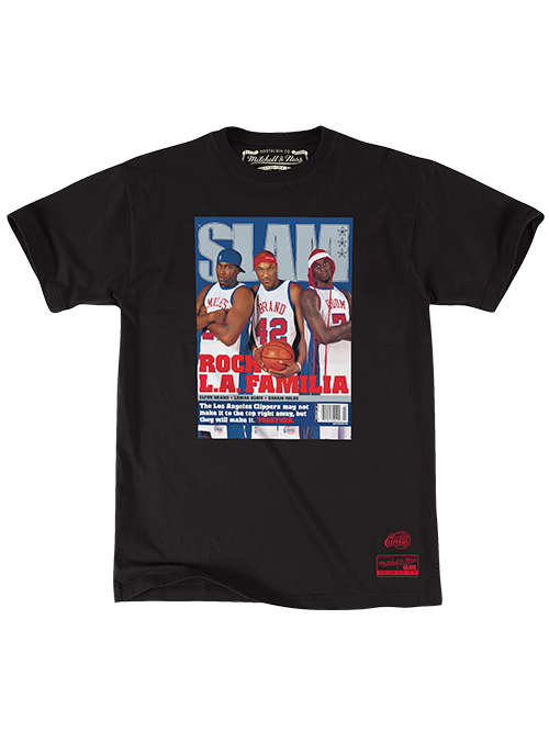 LA Clippers Slam Magazine Cover Short Sleeve T-Shirt - Black