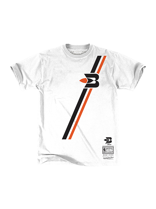 LA Clippers Classic Edition Buffalo Braves Jersey Stripe T-Shirt - White