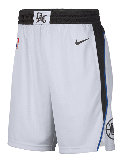 LA Clippers City Edition Swingman Shorts - White/Black