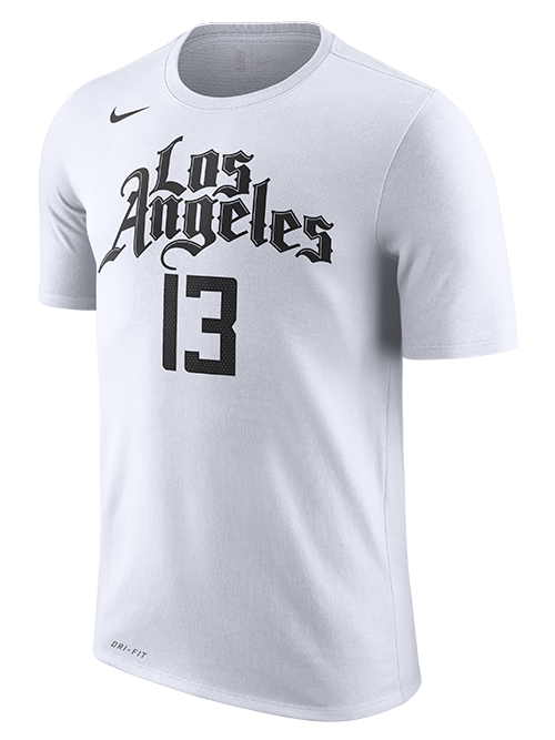 LA Clippers Paul George City Edition Short Sleeve Player Tee - White