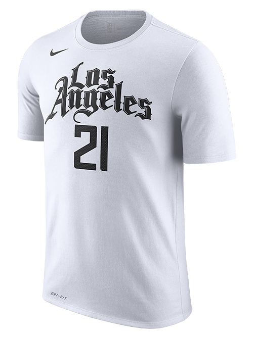 LA Clippers Patrick Beverley City Edition Short Sleeve Player Tee - White