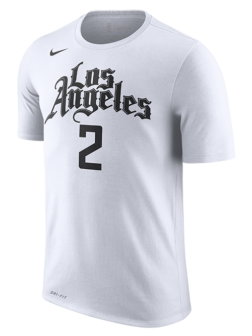 LA Clippers Kawhi Leonard City Edition Short Sleeve Player Tee - White