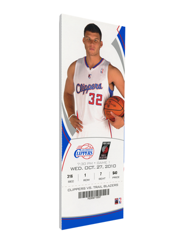Los Angeles Clippers Blake Griffen NBA Debut Canvas Mega Ticket