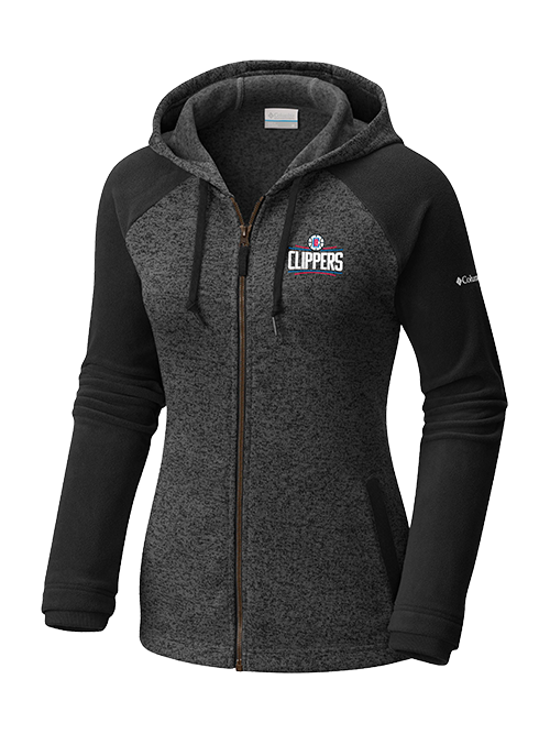 LA Clippers Womens Darling Full Zip Fleece - Black