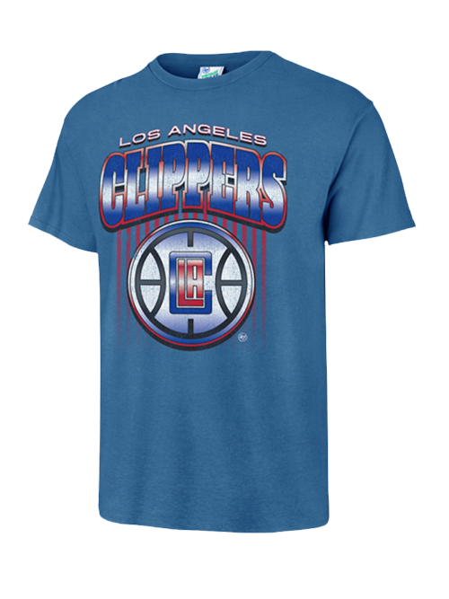 LA Clippers Chrome Vintage Tubular Short Sleeve Tee - Royal
