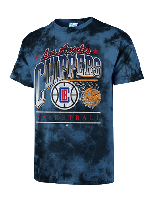 LA Clippers Swish Vintage Tubular Tie-Dye Tee - Royal