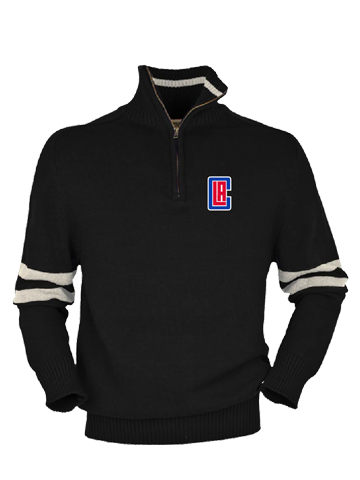 LA Clippers Half Back Quarter Zip Fleece