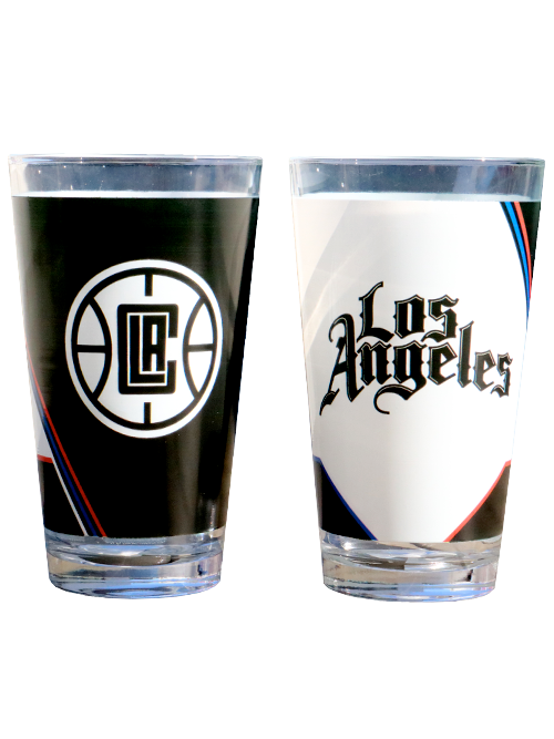LA Clippers City Edition Printed 16oz Pint Glass