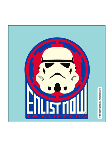 LA Clippers Star Wars Storm Trooper Perf Cut Decal