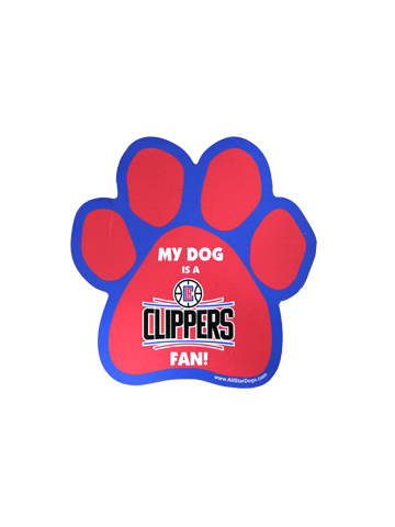 LA Clippers Paw Car Magnet
