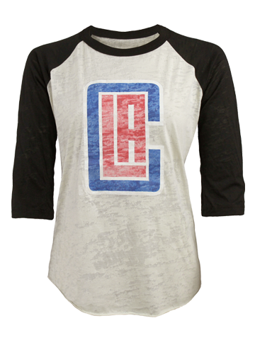 Los Angeles Clippers Burnout Raglan T-Shirt