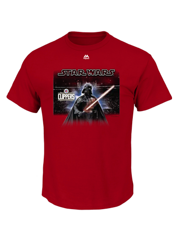 LA Clippers Star Wars Vader Arena T-Shirt