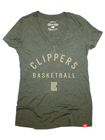LA Clippers Women's Military Solice Abyss T-Shirt