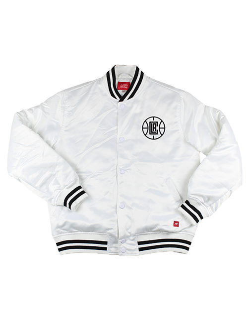 LA Clippers City Edition Men's Logo Fullerton Jacket - White