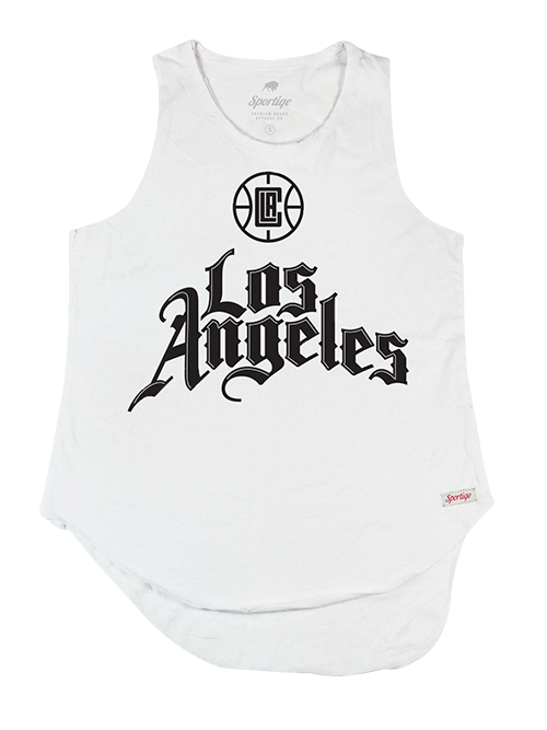 LA Clippers City Edition Women's Truman Janie Sleeveless Tank - White