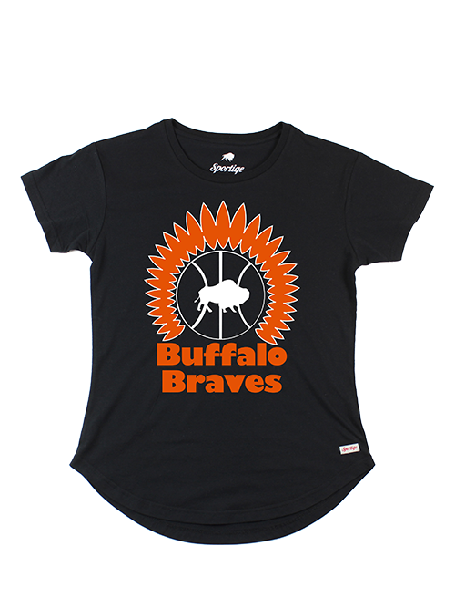 LA Clippers Classic Edition Buffalo Braves Women's Logo Phoebe Tee - Black