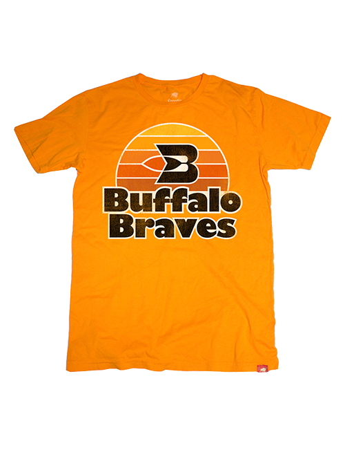 Clippers Hardwood Classics Buffalo Braves Short Sleeve Tee - Orange