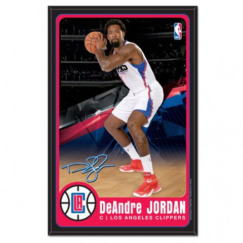 LA Clippers DeAndre Jordan Player Wood Sign