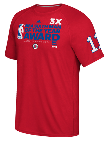 LA Clippers Jamal Crawford NBA 3x 6th Man Award T-Shirt