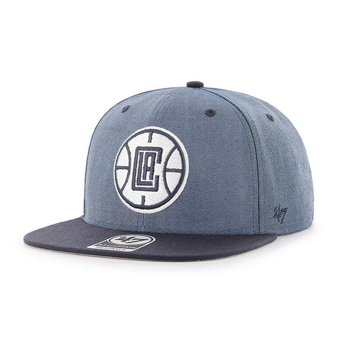 LA Clippers Navy Captain Snapback Cap - Navy/Black