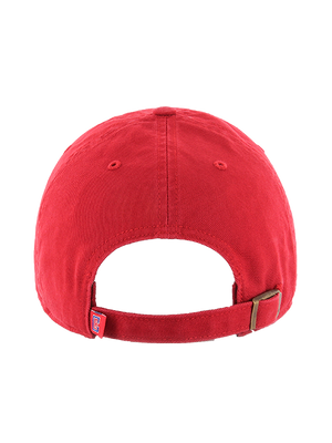 LA Clippers Wordmark Red Clean Up Cap
