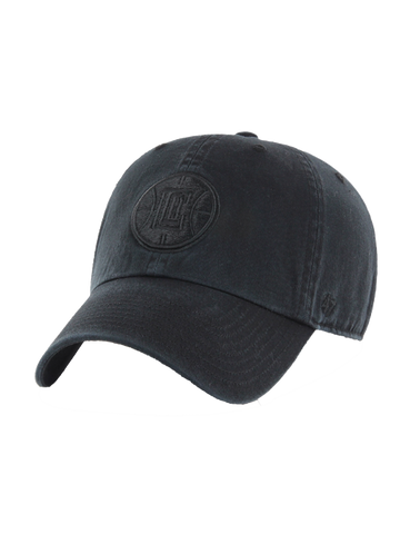 LA Clippers Black on Black Clean Up Adjustable Cap