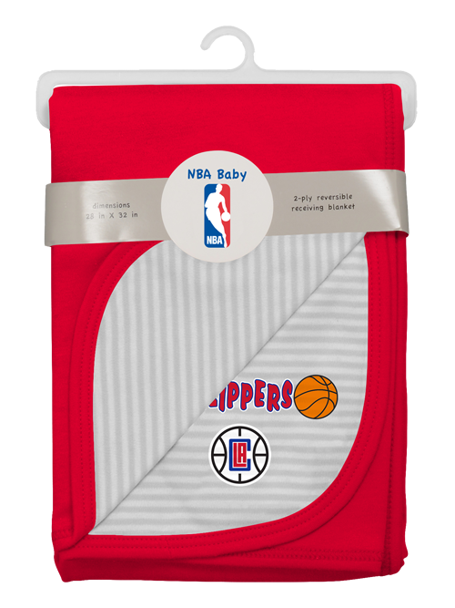 LA Clippers Newborn Little Rebounder Blanket - Red