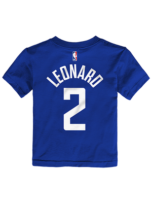 Clippers Toddler Kawhi Leonard Icon Player Tee - Royal