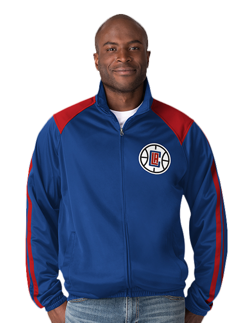 LA Clippers Track Jacket - Red/Blue