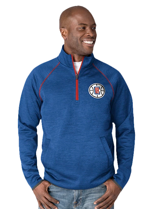 LA Clippers Transitional Half-Zip Pullover - Red/Blue