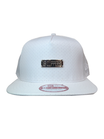 LA Clippers White Out Mini Plate Adjustable Cap