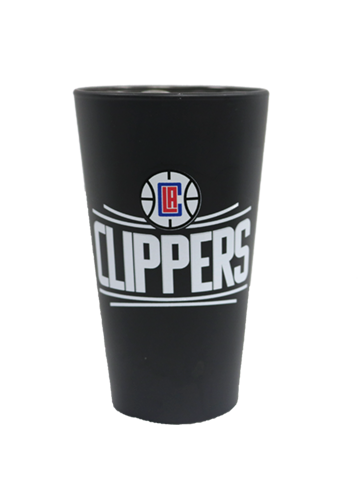 LA Clippers Matte Black Mixing Glass