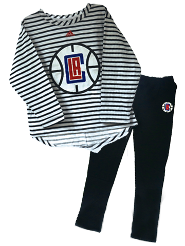 LA Clippers Girls basketball Sweetheart Pant Set