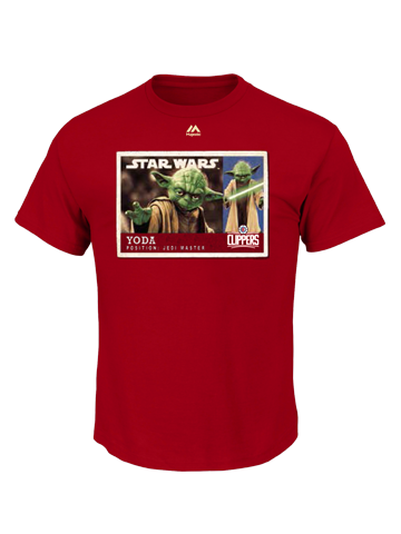 LA Clippers Star Wars Yoda Card T-Shirt