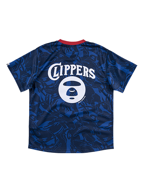 LA Clippers Aape by A Bathing Ape x Mitchell & Ness Practice Jersey - Royal