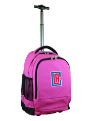 "LA Clippers 19"" Premium Wheeled Backpack"