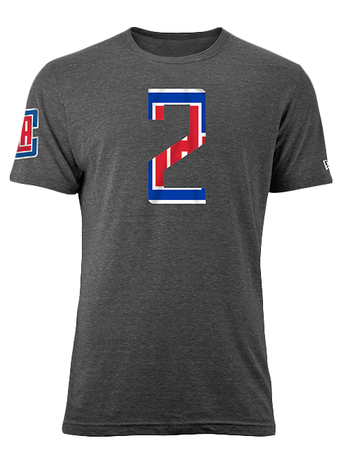 LA Clippers Kawhi Leonard Number Fill T-Shirt