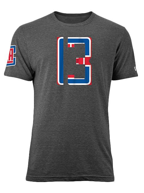 LA Clippers Paul George Number Fill T-Shirt