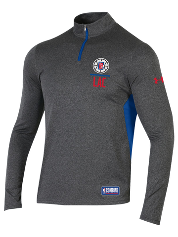 LA Clippers Combine Season Quarter Zip Pullover - Grey