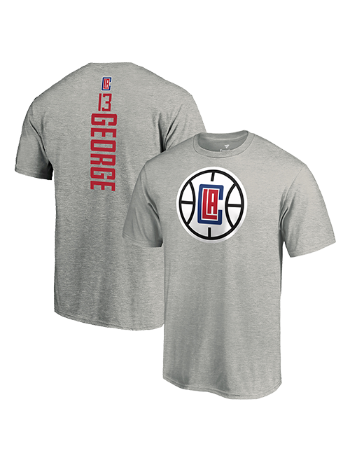 Clippers Number T-Shirt & Paul Vertical  George LA Name