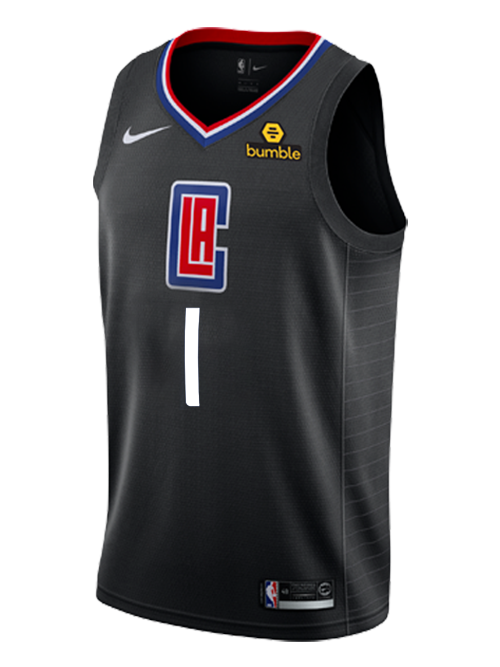 LA Clippers Jerome Robinson Statement Swingman Jersey - Black