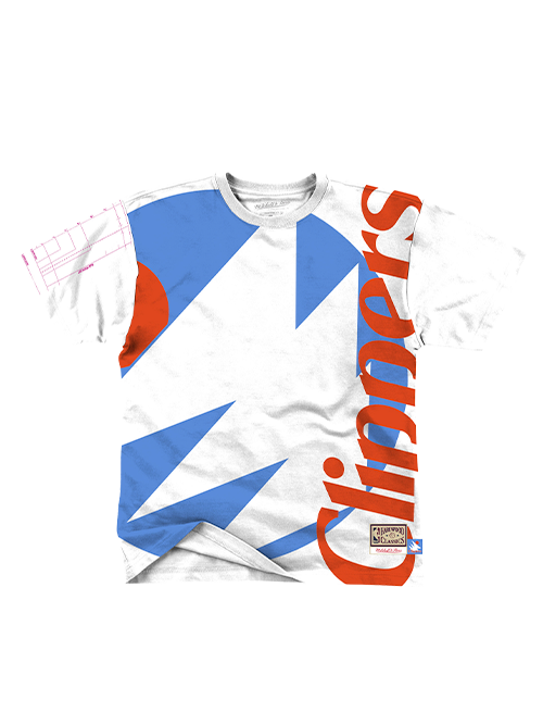 LA Clippers San Diego Big Face Short Sleeve Tee - White/Blue