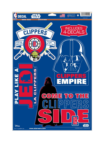 LA Clippers Star Wars  11 x 17 Multi Use Cut Decal