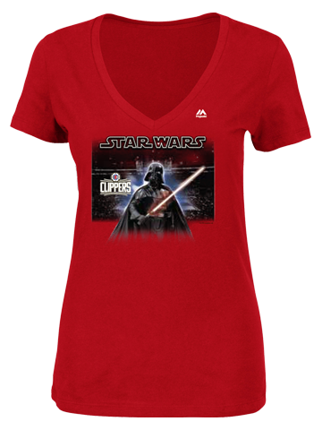 LA Clippers Women's Star Wars Vader Arena T-Shirt