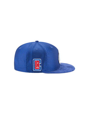 LA Clippers 2017 Youth Draft 950 On Court Mesh Suede Snapback - Royal