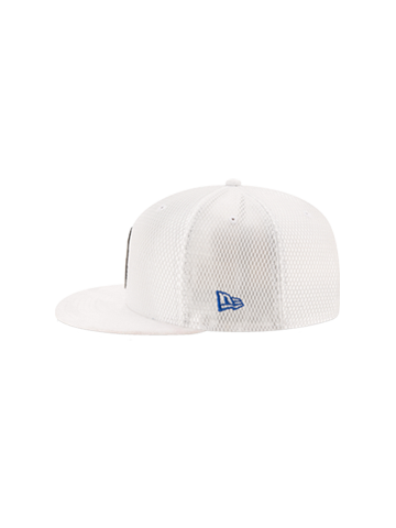 LA Clippers 2017 Youth Draft 950 On Court Mesh Suede Snapback - White