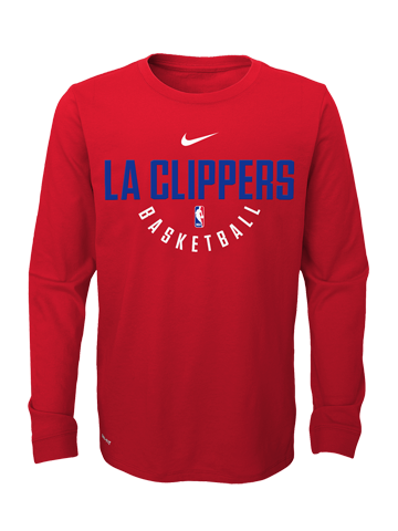 LA Clippers Youth Elite Practice Long Sleeve